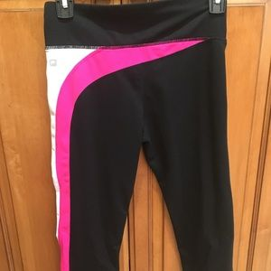Fabletics Black and Pink Crop Legging